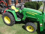 JOHN DEERE 3032 TRACTOR & ATTACHMENTS, TRAILER