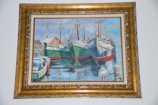 Nautical oil on canvas painting