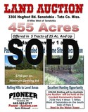 Tate County MS - 455.27 ac. Wooded / Pasture Land Offered in 5 Tracts
