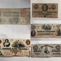 Confederate Currency Paper Money