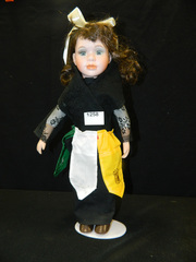 Porcelain Doll in costume - (country)