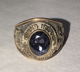 10k Gold Class Ring from Grand Island High School, Vintage