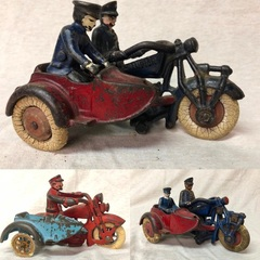 Hubley Cast Iron Motorcycle Toys