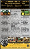 Fall Equipment Consignment Auction