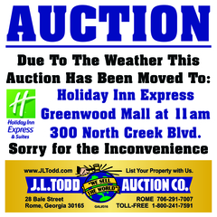 Auction Has Moved Locations