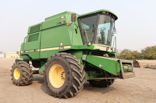JD CTS combine on rubber