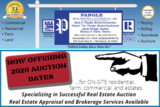 Now Offering 2020 Auction Dates