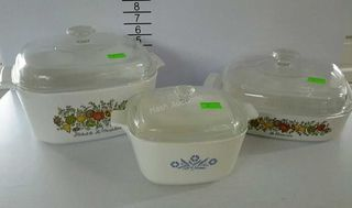 Lot# 2 - 3 Corningware casserole dishes