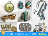 Estate Jewelry Auction - Part II: 100+ Pieces of Native American Jewelry