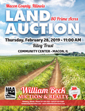 LIVE PUBLIC LAND AUCTION  THURSDAY, FEB. 28, 2019   11 A.M.