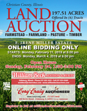 ONLINE ONLY AUCTION  197.51 ACRES CHRISTIAN COUNTY, IL FARM LAND