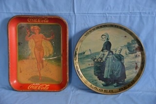 Coke Tray & Wooden Shoe Beer Tray