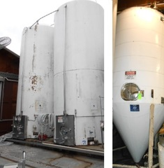 Several SS Jacketed Fermenters: 60 bbl - 24,000 Gal: