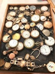 Antique pocket watch collection: