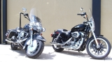 Harley Davidson Motorcycles / Pure Steel Custom Cruiser / (3) ATV's
