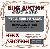 WHOLE HERD CATTLE DISPURSMENT SALE
