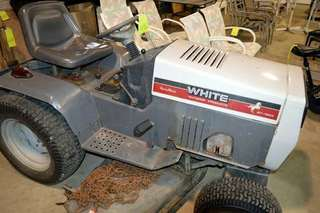 White Lawnmower