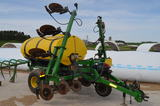 JD 1750 6 RN CORN PLANTER, FARM KING 1410 LIQUID FERT APPLICATOR, JD 4630 TRACTOR, RAKES, BADGER CHOPPER BOXES, GRAIN AUGER