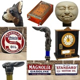 Fresh to Market Canes, Walking Sticks, Aladdin Lamps, Porcelain Signs, Advertising & Antiques Auction