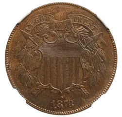 1873 Open 3 Two Cents, NGC PF-62BN