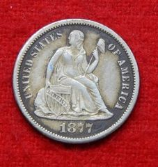 Lot# 2 - 1877 Seated Liberty Silver Dime