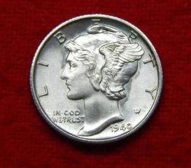 Lot# 3 - 1940 S Mercury Silver Dime