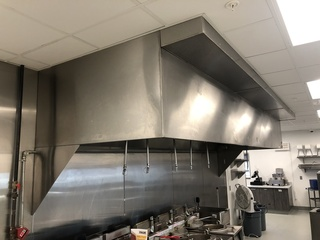 CaptiveAire NSF Commercial Kitchen Exhaust Hood & Ansul System Model: 5430 ND-2 & SS Fire Extinguisher	15 Feet Wide, 55in Deep, 28in, Approved Tech Only to Remove at Buyers Expense, Buyer Must Also Cap Any Exposed Holes and Wires After Dismantling at Buye