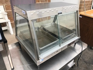 Hatco Model; GRHD-2P Glo-Ray Self Service Countertop Heated Display Case, Food Warmer