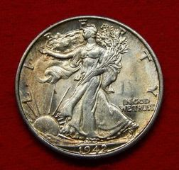 Lot# 2 - 1942 S Walking Liberty Silver H