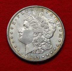 Lot# 5 - 1897 S Morgan Silver Dollar