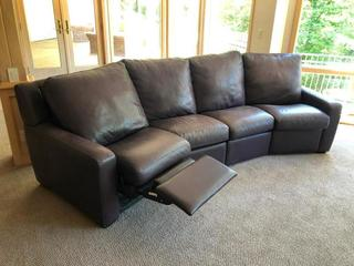 American Leather - Leather Sectional Couch w/ Reclining Ends	Purchased from Nebraska Furniture Mart