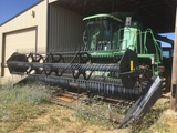 JOHN DEERE CTS Harvester On Rubber w/ MacDon 972 21' Header