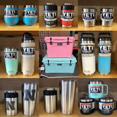 Yeti Tundra Coolers, Yeti Ramblers, Colsters, Wine Tumblers, Rambler Bottles, Rambler Mugs and More