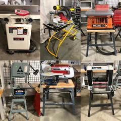 Jet, DeWalt, Delta, Ridgid, Ryobi Woodworking Equipment and Tools
