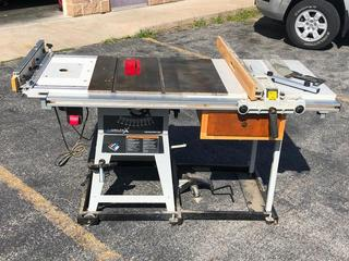 Delta X5 Contractors Table Saw w/ Fence & Side Mount Router Table