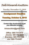 FALL CONSIGNMENT MINERAL AUCTION
