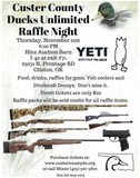 CUSTER COUNTY DUCKS UNLIMITED RAFFLE NIGHT