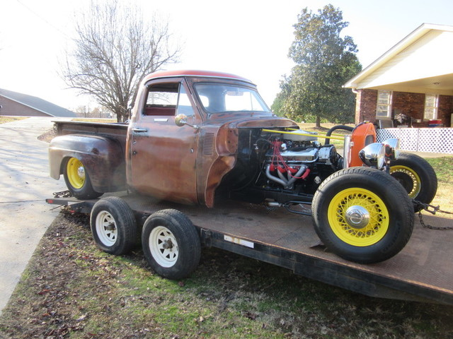 1955 Ford F10 Pickup Rat Rod: