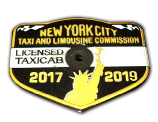 3 NYC TAXI MEDALLIONS