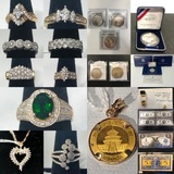 Coins, Currency, Gold, Silver & Jewelry Timed Online Auction