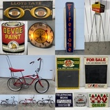Fresh to Market Signs, Coin-Ops, Advertising, High End Antiques Live Auction