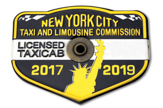 2 NYC TAXI MEDALLIONS