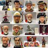 Two Timed Auctions: Vintage Toby Jug Collection & Vintage Sealed Elvis Decanter Collection
