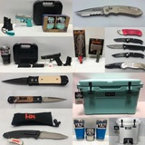 2 Timed Auctions This Weekend - 150 New High End Knives & 135 Lots of Yeti, TSG Gear, Guns