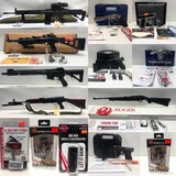 New Firearms, Scopes, Ammo, Optics, Knives Timed Online Auction