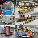 MTC G12 Ride-On Train, 1950's Amusement Part Ride, Vintage Trailers, 6 Person Bike No Reserve Auction