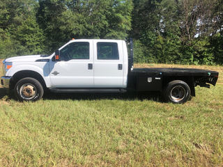 Ford F350 Diesel Crew Cab with Flat Bed