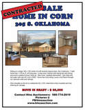 HOME FOR SALE IN CORN, OK