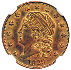 1829$2.50 Gold, NGC MS-63, BD-1