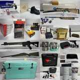 New Guns, Ammo, Optics & Yeti Short Notice Online Auction